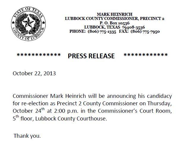Mark Heinrich Commissioner