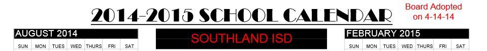 Southland Cal 2014