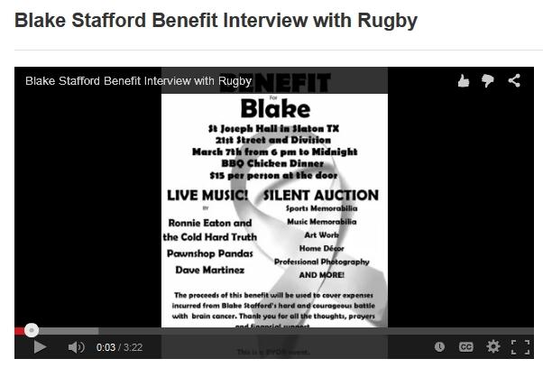 Blake Stafford Benefit Info