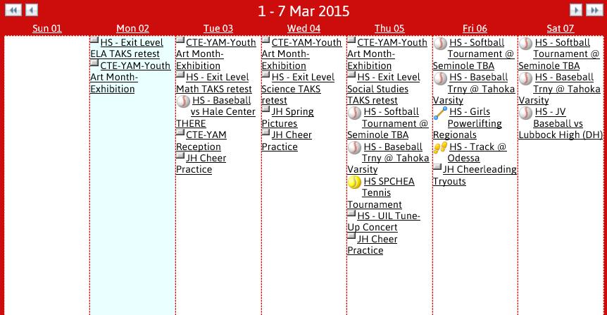 Slaton ISD Calendar