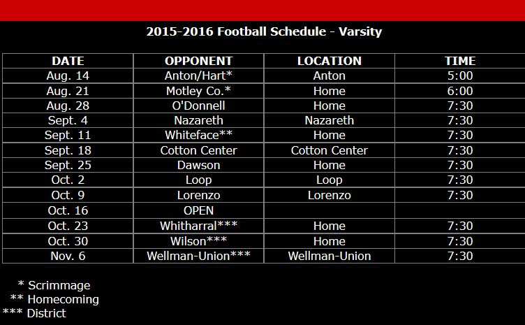 Southland Football Schedule 2015