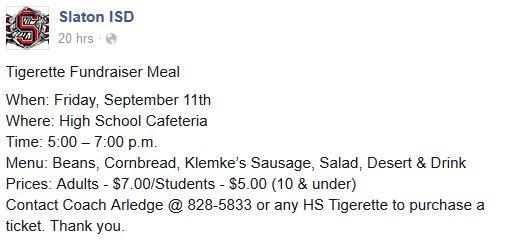 tigerettes meal