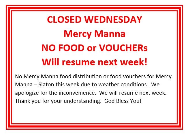 Manna Closed