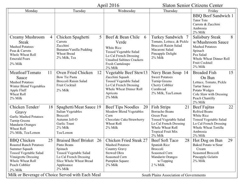 SrCitCntr Menu April 2016